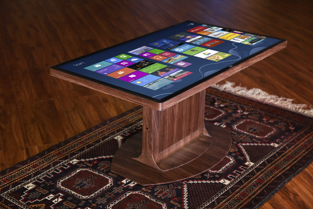 Custom Wood Grain Multitouch Coffee Table By Ideum Flickr - Multitouch coffee table