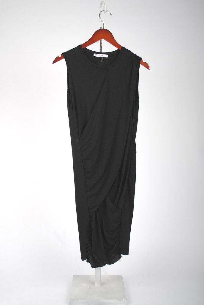 Drape Front Sleeveless Dress