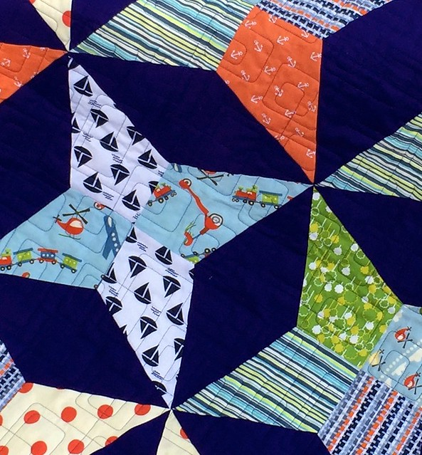Baby Square Dance Quilting Closeup