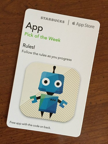 Starbucks iTunes Pick of the Week - Rules!