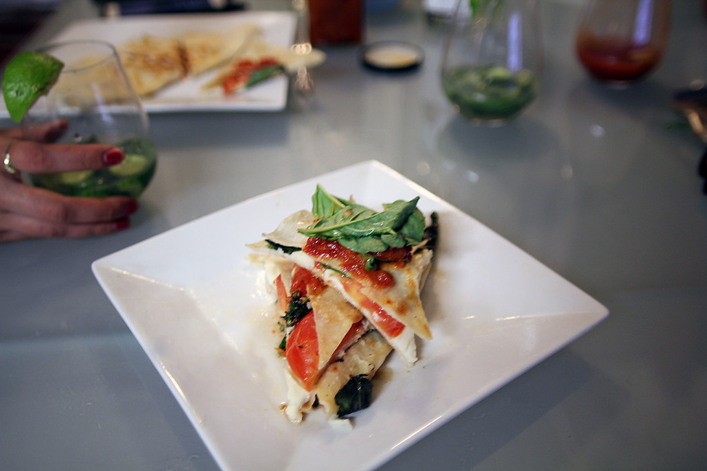 Caprese Quesadilla Recipe and Cucumber Basil Mule
