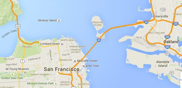 treasure island google map