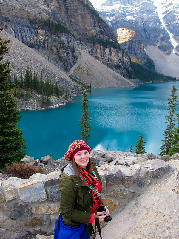 Amanda at Moraine Lake