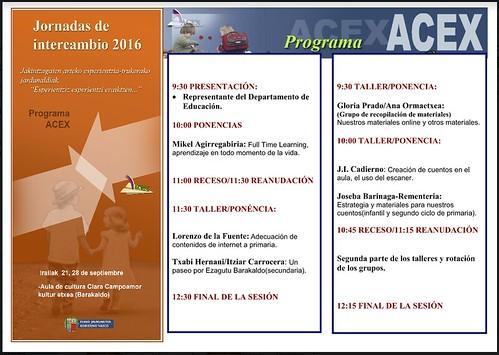 VII Jornadas Intercambio ACEX 2016