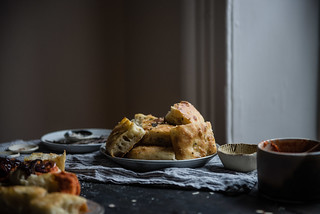 herbed focaccia & pimento romesco | two red bowls | by Two Red Bowls