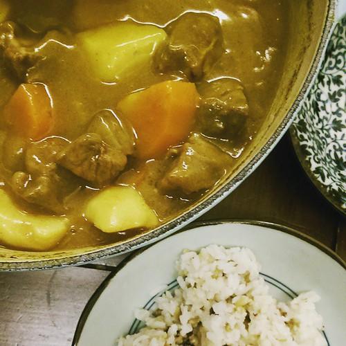 20150519 今日 咖哩牛腩  #葛蘿的餐桌