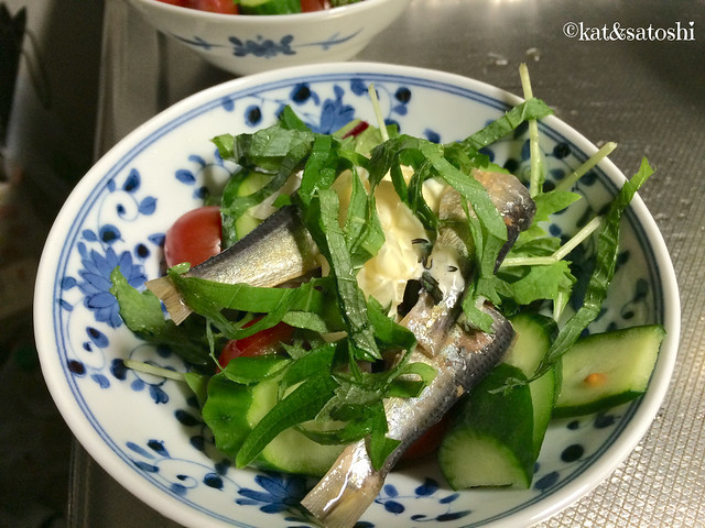 recreate sardine sandwich had at amanohashidate, turned it into salad