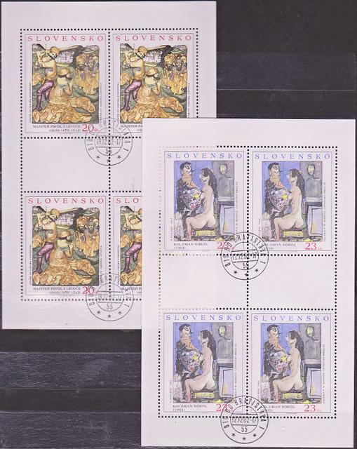 Známky Slovensko 2002, Umenie - 2x razítkovaný blok