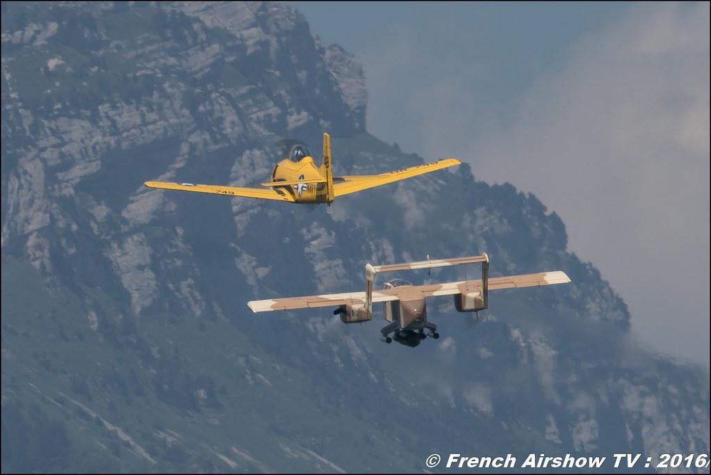 North American T-28C Trojan - F-AZHR ,Aéro Fox, cederic rut , OV-10 Bronco montelimar , F-AZKM , Alain Bes , North American OV-10 Bronco , Grenoble Air show 2016 , Aerodrome du versoud , Aeroclub du dauphine, grenoble airshow 2016, Rhone Alpes