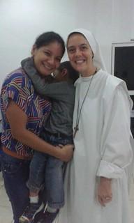 Hna. Clare con María Vergara