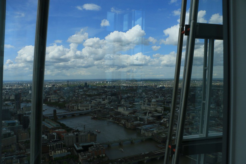 """the view from The Shard"": panorama"