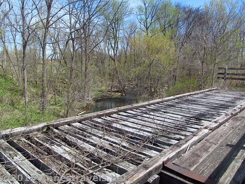The unused half of a bridge on the Lehigh Valley Trail, New York