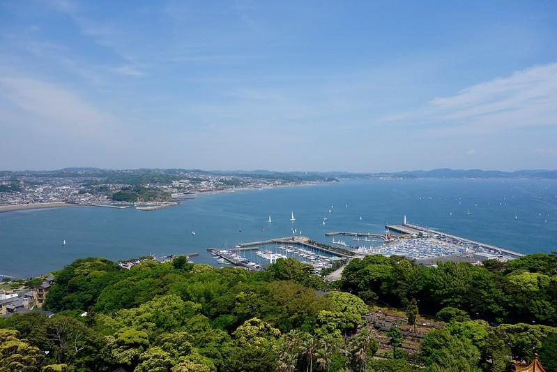 シーキャンドル展望台より、鎌倉方面を望む