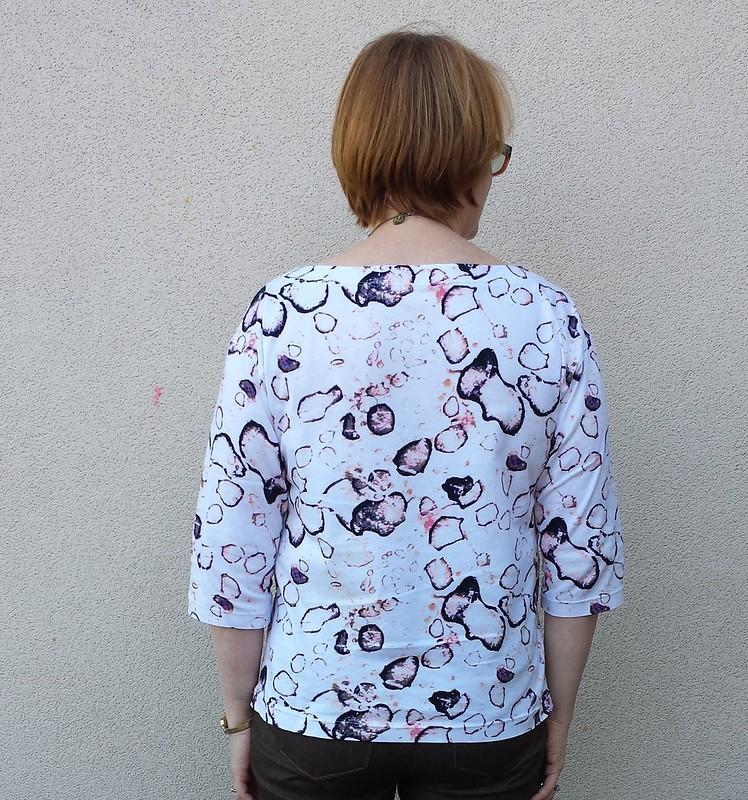 Liesl + Co Maritime knit top in fabric from Darn Cheap Fabrics