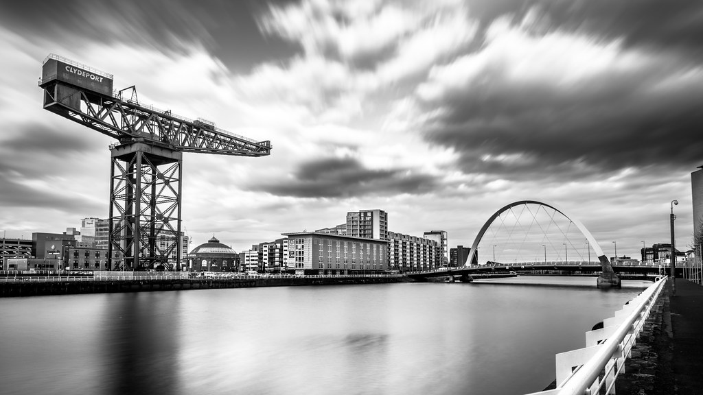 Clyde arch glasgow scotland black and white cityscape photography by giuseppe milo