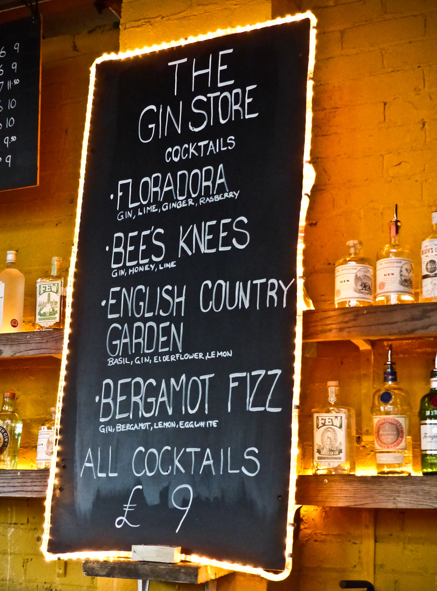 The-Gin-Store-cocktail-list,-Dalston-Street-Feast,-London
