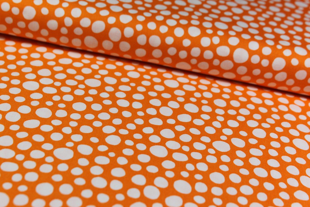 "Baumwollstoff ""Little spots"", orange"