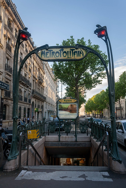 A gothic Metro entrance, Paris