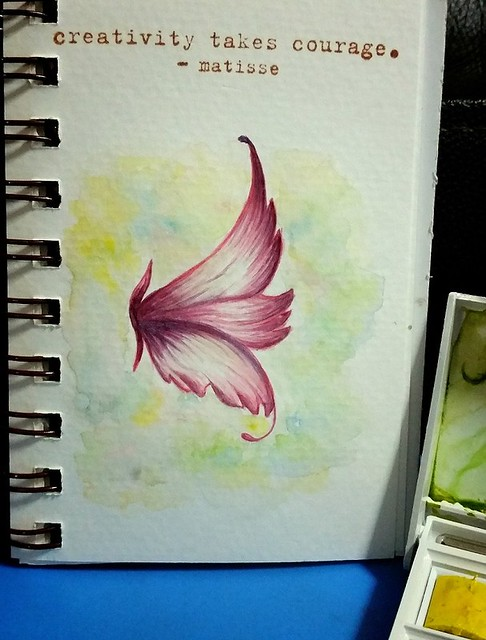 {Creativity Takes Courage} Watercolor