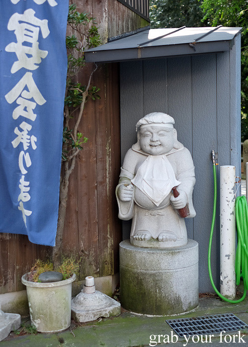 Statue outside a restaurant in Toyama, Japan