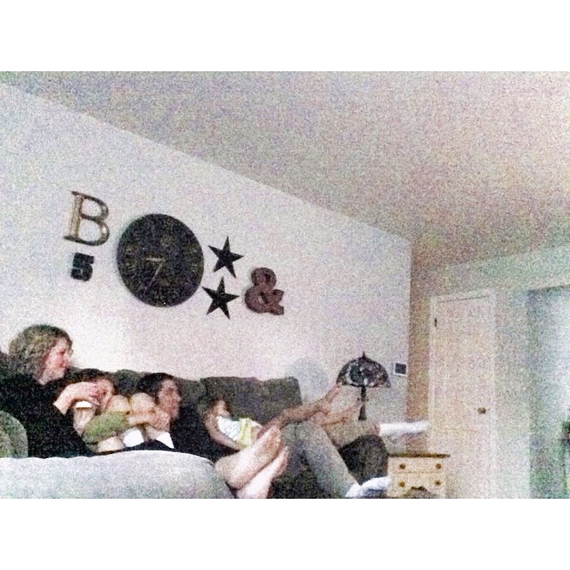 8:30 pm // we all end up piled on top of each other on one couch #aedayinthelife
