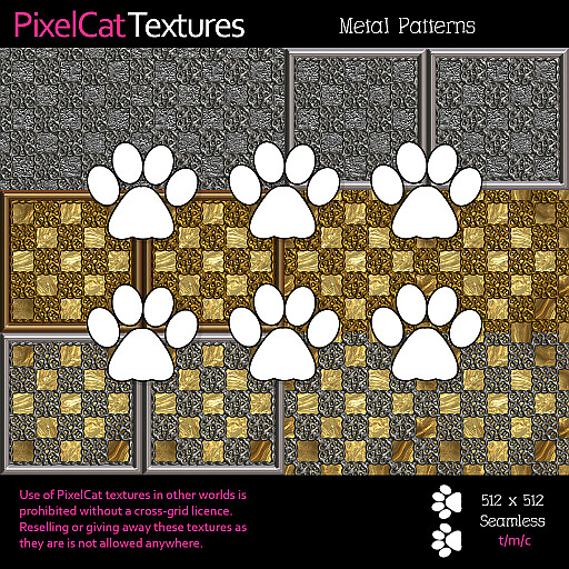 PixelCat Textures - Metal Patterns