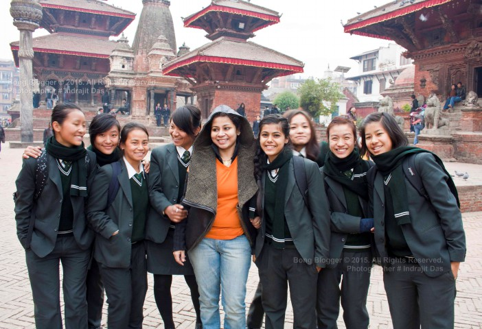 Faces of Nepal - Students at Durbar Square, Kathmandu, Nepal