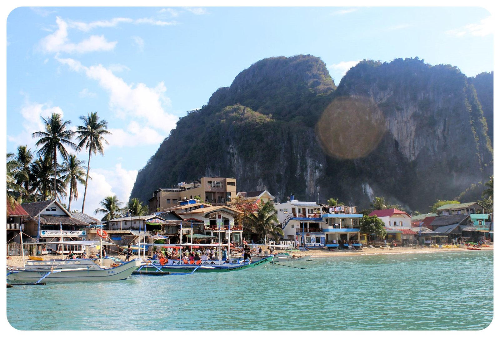 el nido from the water