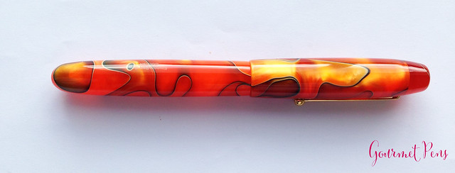 Review Edison Collier Persimmon Swirl Fountain Pen @EdisonPenCo @CouronneDuComte (11)