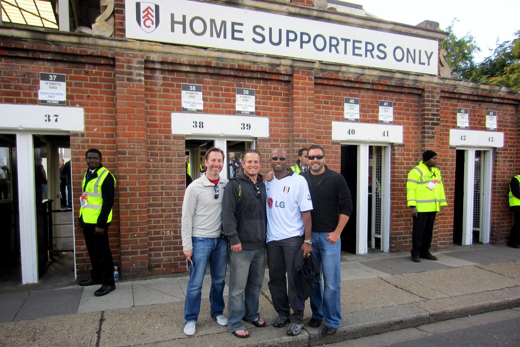 Fulham Supporters at Craven Cottage