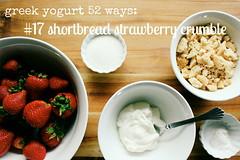 greek yogurt 52 ways: no. 17 shortbread strawberry crumble