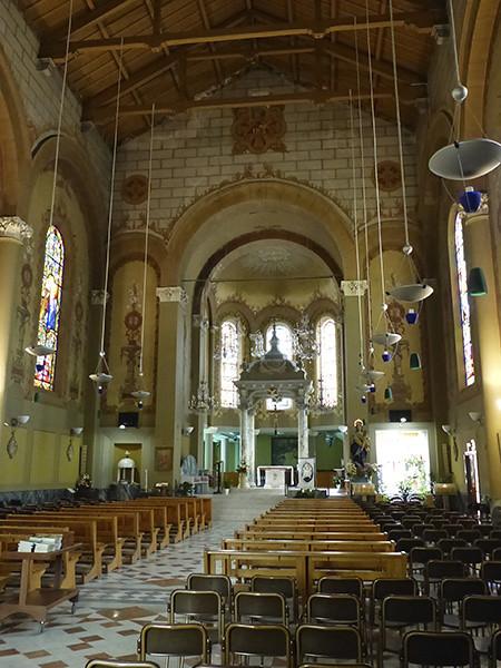 entrée dans l'église de Bordighera