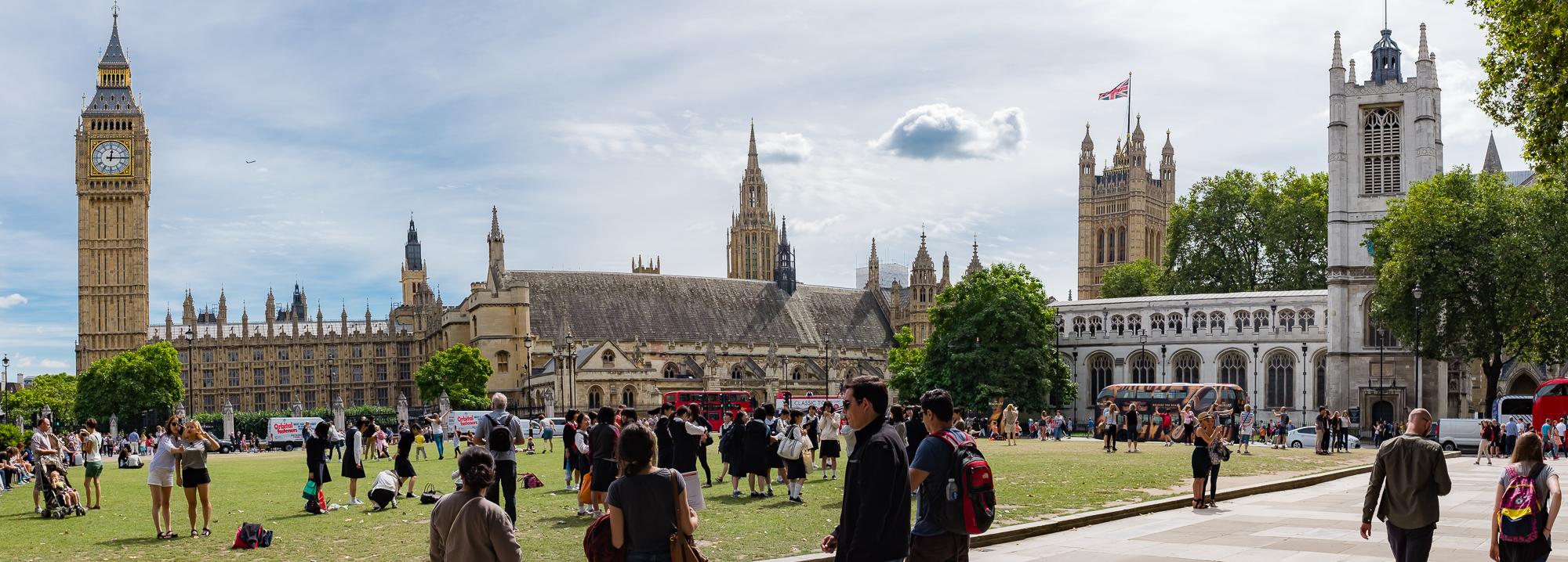 Big Ben, parlamento y abadía de Westminster.