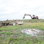 Демонтаж и земляные работы на третьей могиле