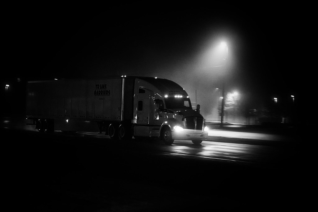 Image result for 18 wheeler at night