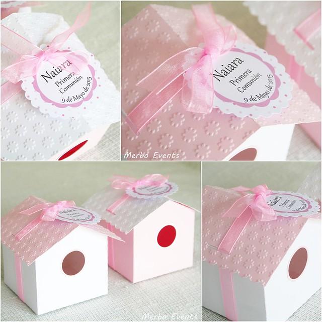 cajas en forma de casita para regalos comunión MErbo Events