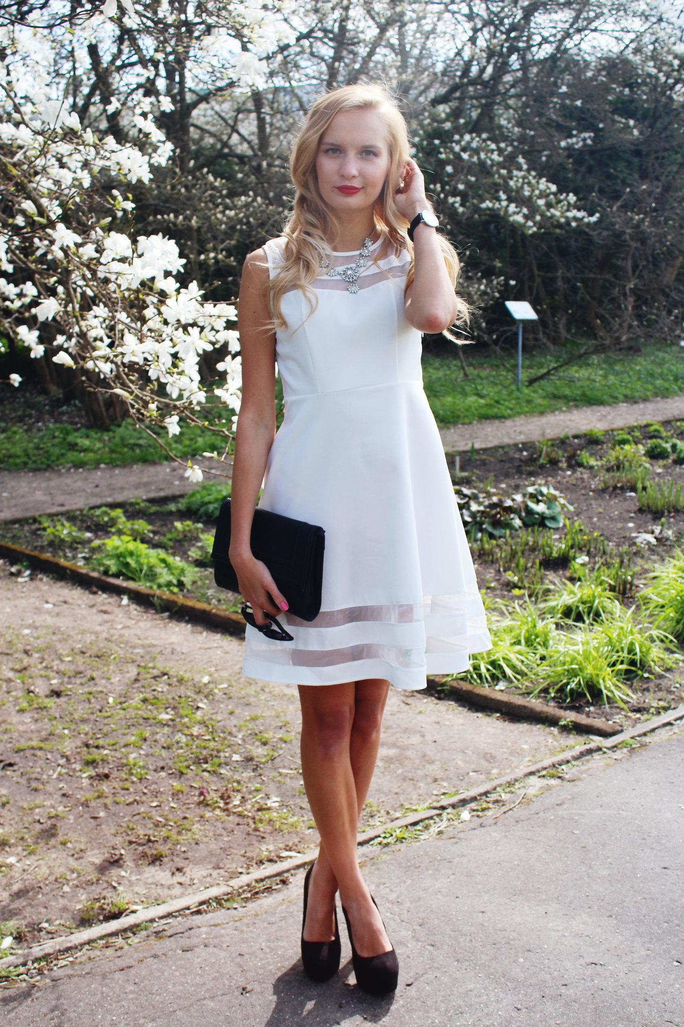 white-a-line-dress
