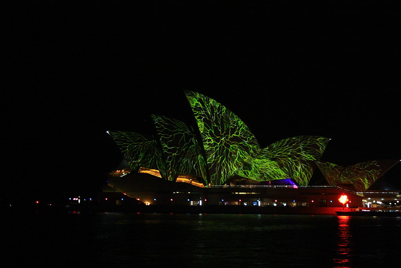 Sydney Opera House looking vivid