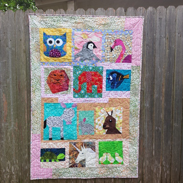 Quilt number two, made by Alida (tweloquilting.blogspot.com), quilted by Marge, bound by me. For donation to thelinusconnection.org. #blanketcharity #charityblanket #quiltforgood