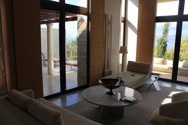 Amanzoe lounge area