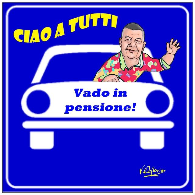 Noicattaro. Michele Cafagna in pensione vignetta intero