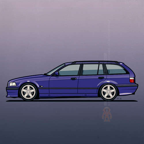 BMW E36 328i Touring Techno Violet