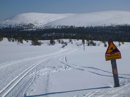 Ski route from Kukastunturi hill | by outdoorsfinland