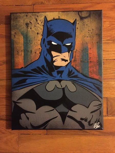 Batman canvas by Chris Cleveland Studios