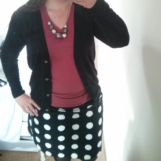 #mmm15 day 19 - spotty NL6154 skirt with pockets