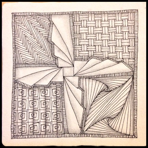 Zentangle 90, for The Diva's Weekly Challenge #219