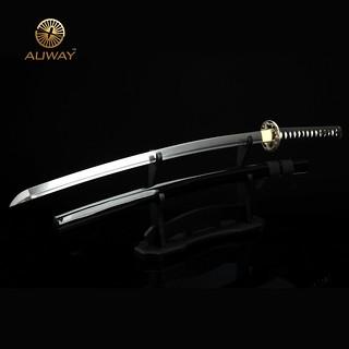 Auway-samurai-sword-Dragon-Tsuba-Black-scabbard-3