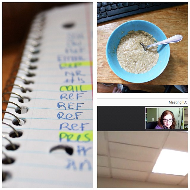 A DAY IN THE LIFE   9:00 - 10:00 am ish - The lists just keep getting longer + breakfast + video presentation    #aedayinthelife #photoanhour #365 #adayinthelife #makingmemories #photoproject #project365