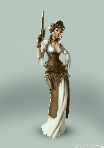 Steampunk Star Wars by Bjorn Hurri - Princess Leia Organa