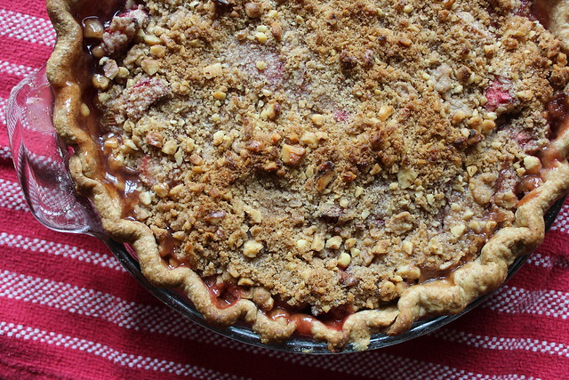 Rhubarb Streusel Pie :: coppertopkitchen.blogspot.com